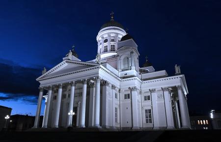 nikolay: Cathedral of St. Nicholas (Cathedral Basilica) in Helsinki at night