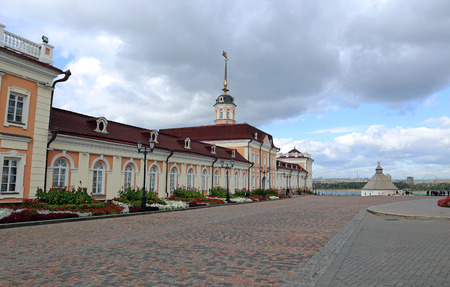kazan: KAZAN, RUSSIA – SEPTEMBER 16, 2014: Cannon yard Kazan Kremlin (main building)