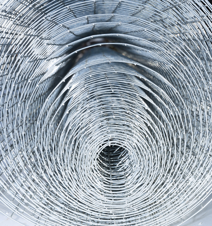 solid wire: Background of galvanized stainless welded meshes Stock Photo