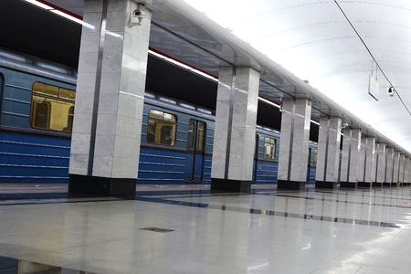spartak: MOSCOW, RUSSIA - FEBRUARY 18, 2016: Interior Moscow metro station Spartak