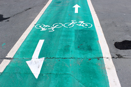 specifically: Dedicated lanes on the road specifically for bicycles