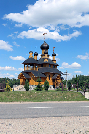 Temple of the Holy Prophet Ioan the Baptist in Dudutki in Belarus Stock Photo
