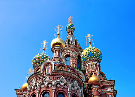 Cathedral of the Resurrection on Spilled Blood (Church of Our Savior on the Spilled Blood) in St. Petersburg