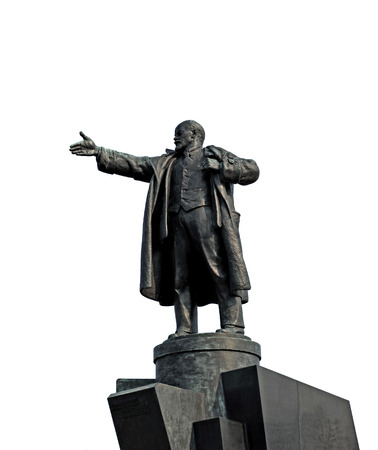totalitarianism: The monument to Vladimir Lenin near the Finland Station in St. Petersburg