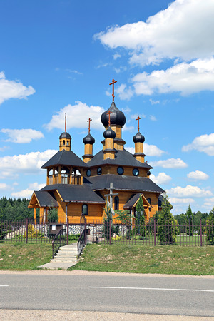 Temple of the Holy Prophet Ioan the Baptist in Dudutki in Belarus Editorial
