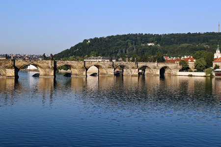 charles bridge: Charles Bridge over the Vltava River in Prague, Czech Republic