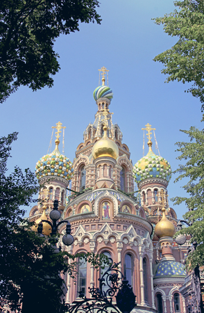 Cathedral of the Resurrection on Spilled Blood (Church of Our Savior on the Spilled Blood) in St Petersburg