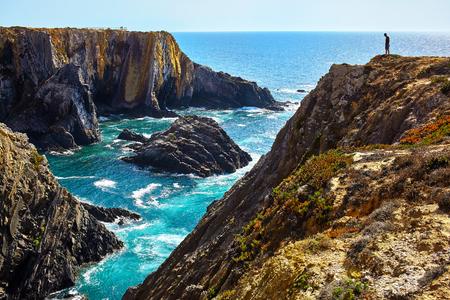Amazing cliffs on the west coast of Portugal in the Alentejo region