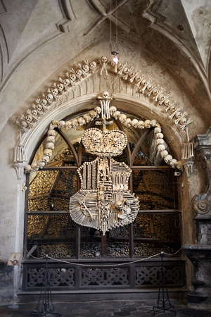 The church of bones in Sedlec Ossuary (Kuta Hora - Czech Republic)