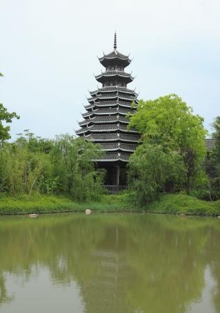 Chinese garden architecture Stock Photo