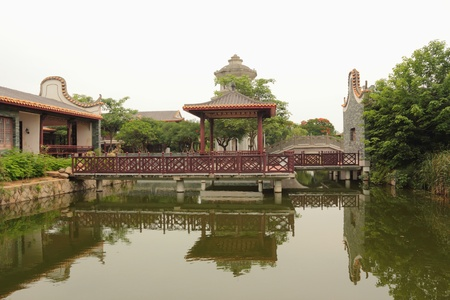 Chinese garden architecture Stock Photo