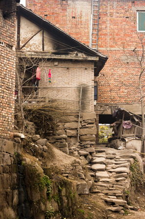 Chinese Rural House Stock Photo - 28754261
