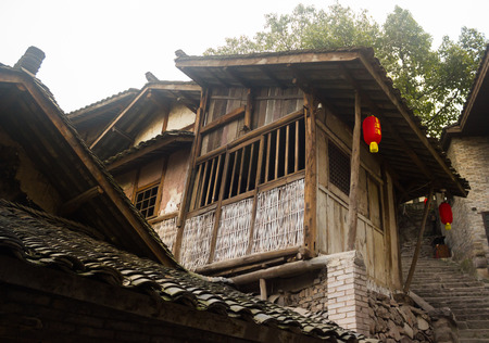 roofed house: Chinese Wooden Building