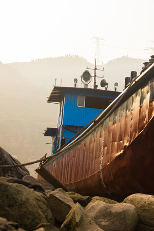 stranded: The Stranded Ship at Sunset