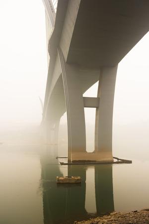 yangtze river: Yangtze River Bridge in Fog