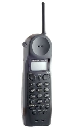 draadloze telefoon geïsoleerd op wit  Stockfoto