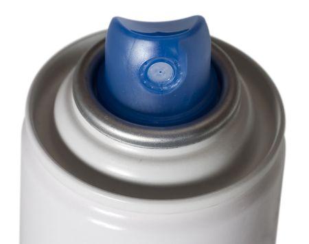 white hair spray aerosol can Stock Photo