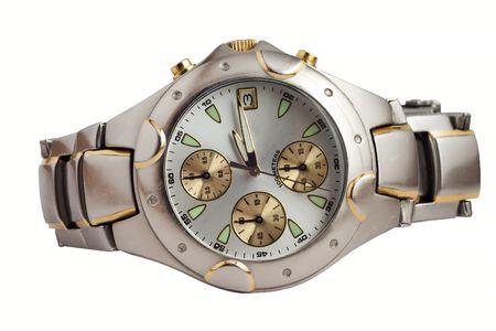 白で隔離される腕時計