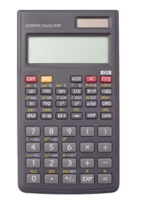 scientific calculator isolated on white background Stock Photo