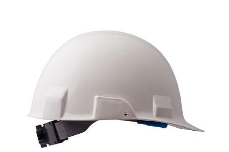 white hard hat isolated on white background Stock Photo - 2024254