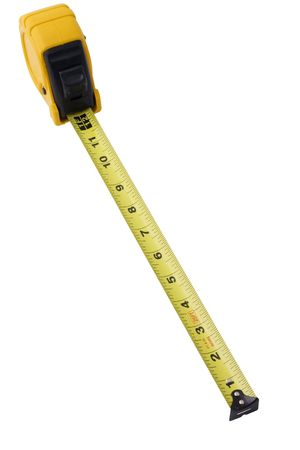 1: measuring tape suring 1 foot, isolated on white background