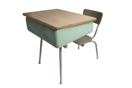 school desk isolated on white