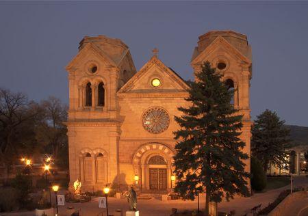 大聖堂バシリカ-セントフランシスのサンタフェ、ニュー メキシコ州のダウンタウン