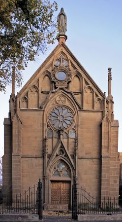 Loretto Chapel in Santa Fe New Mexico - historic site  Banco de Imagens
