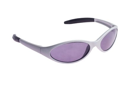 childs grey sunglasses isolated on a white background