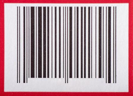 赤い枠でバー コード 写真素材