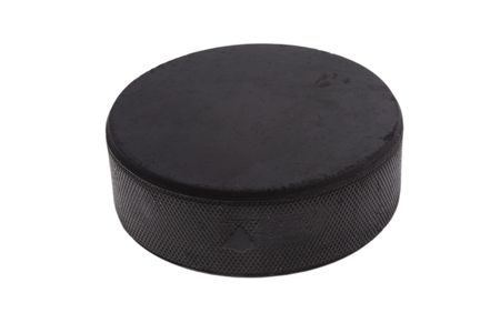 hockey puck: hockey puck isolated on white background