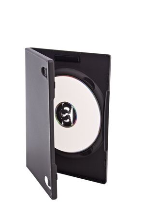 jewel case: open dvd or cd case with blank disk