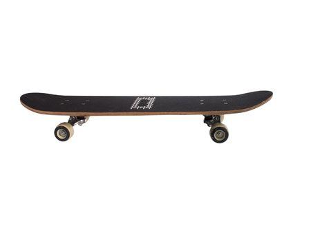 白い背景上に分離されて黒のスケート ボード