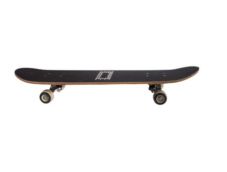 black skateboard isolated on a white background Banco de Imagens
