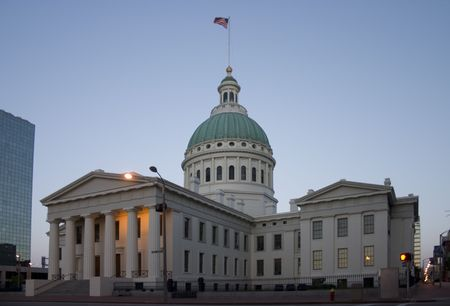 Old Courthouse in St Louis at sunrise Stock Photo