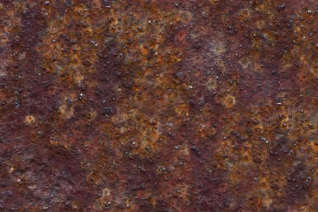 oxidized: rusted metal close up for texture or background