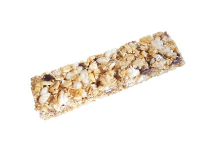 granola chewy bar isolated on a white background photo