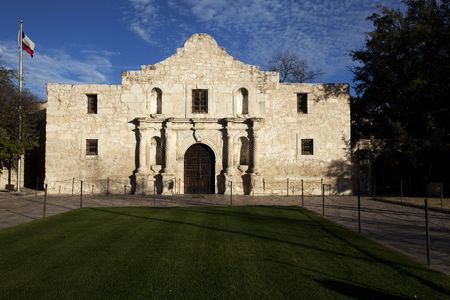 antonio: The historic Alamo mission in San Antionio Texas, site of the battle of the Alamo for Texas independence in 1836