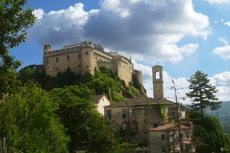 Medieval castle in Tuscany Italy