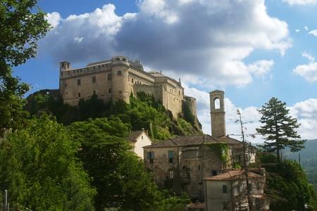 Middeleeuws kasteel in Toscane Italië Stockfoto