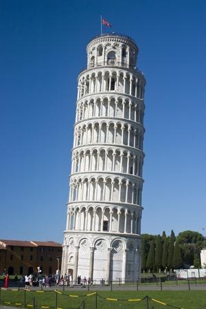 トスカーナ、イタリアのピサの斜塔 報道画像