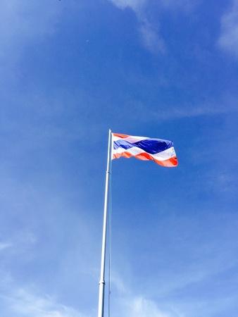 thai flag: Thai flag at school