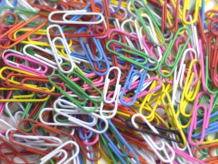 Paper clip with a vibrant set the same disorder