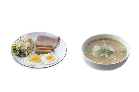 breakfast on a white background Stock fotó