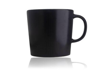 Black Coffee Mug on a white background Stock fotó