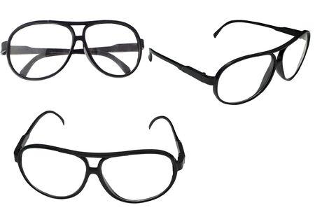 Black frame glasses on a white background Stock fotó