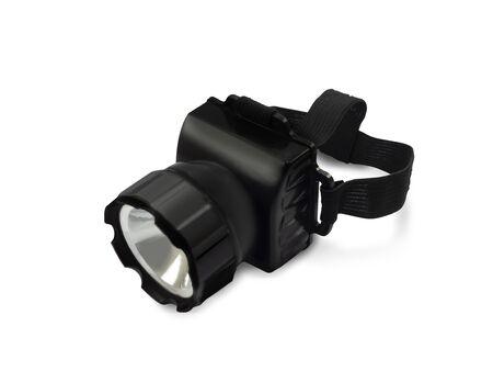 Flashlight head on a white background