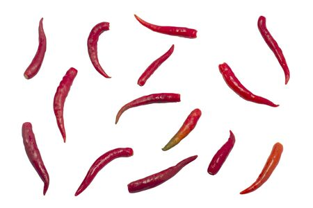 Chilli on a white background,with clipping path