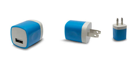 Adapter  blue on a white background