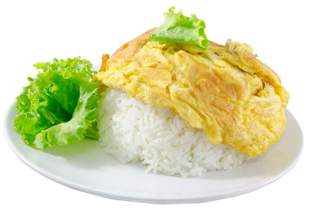 omelet: Thai omelet on jasmine rice